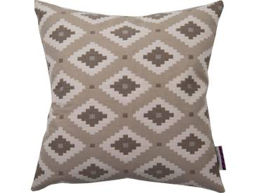 Tom Tailor Kissenhüllen »Indian Spirit«, braun, Polyester-Baumwolle-Kunstfaser, braun