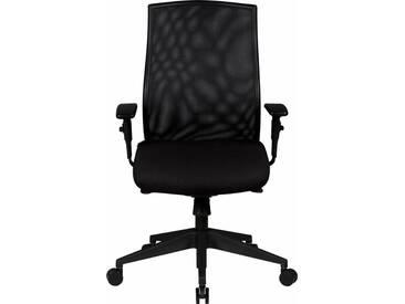 Amstyle Bürodrehstuhl »David«, mit 3-Punkt-Synchronmechanik, schwarz, Netzstoff, schwarz / schwarz