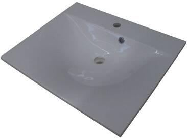 FACKELMANN Gussmarmorbecken »Como«, Breite 60 cm, weiß, weiß