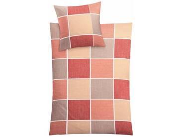 Kleine Wolke Bettwäsche »Caranta«, im klassischen Karo, rot, 1x 155x220 cm, Mako-Satin, rostfarben