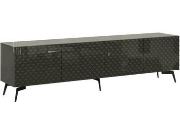 Bruno Banani bruno banani Lowboard »Design 1«, mit 3D-Fronten in Hochglanz, in zwei Breiten, grau, 4 Türen (211/42/57 cm), graphit Hochglanz