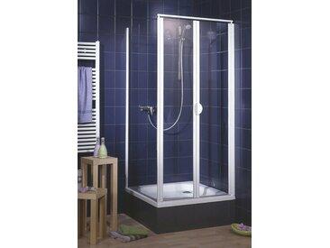 Schulte SCHULTE Pendeltür »Sunny«, Duschtür mit Verstellbereich, BxH: 88-92 x 185 cm, weiß, ohne Antikalk-Versiegelung, weiß
