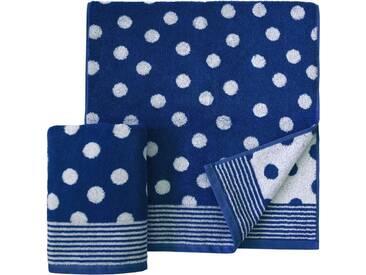 Dyckhoff Handtücher »Dots«, mit Punkten, blau, Walkfrottee, marine