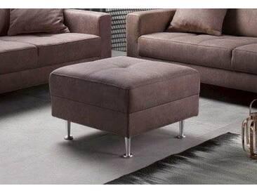 INOSIGN Hocker »Style« in drei Bezugsqualitäten, braun, dunkelbraun
