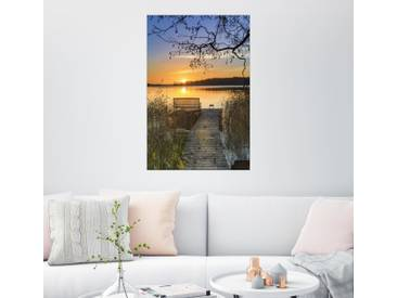 Posterlounge Wandbild - Dennis Siebert »Morgentliche Ruhe«, bunt, Leinwandbild, 40 x 60 cm, bunt