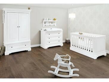 Pinolino® Pinolino Babyzimmer Set, Kinderzimmer »Emilia« breit (3-tlg.), weiß, weiß