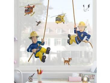 Bilderwelten Fenstersticker »Feuerwehrmann Sam - rettet dich«, bunt, Farbig