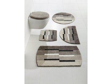 Grund GRUND Badgarnitur mit modernen Streifen, natur, taupe/grau