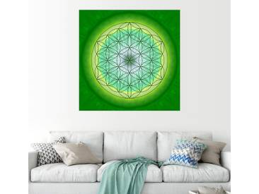 Posterlounge Wandbild - Christine Bässler »Blume des Lebens 3«, grün, Leinwandbild, 120 x 120 cm, grün