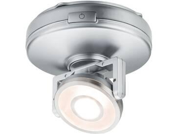 Paulmann Schrankleuchte »LED Rotate 1er-Spot dimmbar batteriebetrieben mit Schalter An/Aus/Dimmen«, 1-flammig, silberfarben, 1 -flg. /, chromfarben