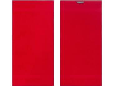 Egeria Handtücher »Diamant«, in Uni gehalten, rot, Frotteevelours, rot