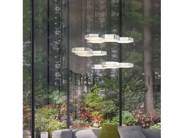 Nova Luce LED Pendelleuchte »Pettine LED Design Hängeleuchte 51cm / 60W, 3000K«, weiß, Weiß