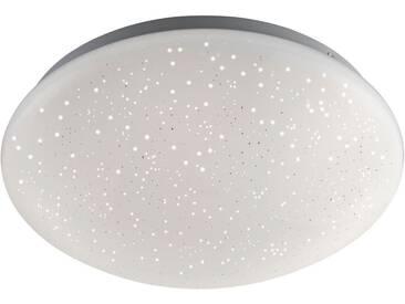 Leuchten Direkt LED Deckenleuchte »SKYLER«, weiß, Ø26 cm, weiß