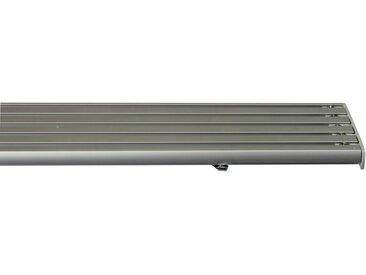 GARESA Gardinenschiene »Flächenvorhangschiene 2 - 5 lauf, spezial«, 5-läufig, Wunschmaßlänge, grau, aluminiumfarben
