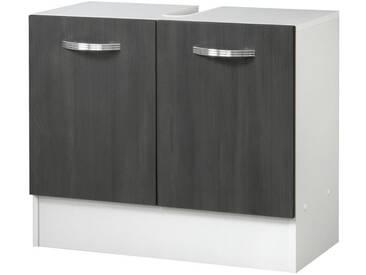 Kesper Waschbeckenunterschrank »Como«, Breite 65 cm, grau, graphitfarben/weiß