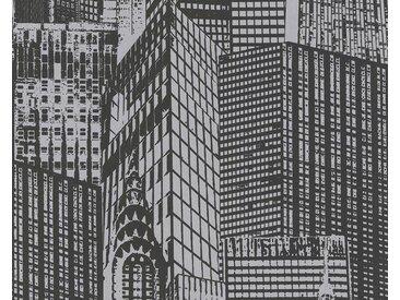 living walls Bordüre »pop.up Panel 3D 95567«, grafisch, gemustert, FSC®, schwarz, schwarz
