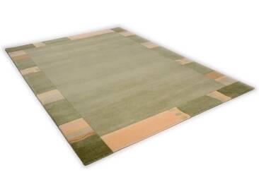 THEKO Teppich »Avanti«, rechteckig, Höhe 12 mm, von Hand geknüpft, grün, 12 mm, grün
