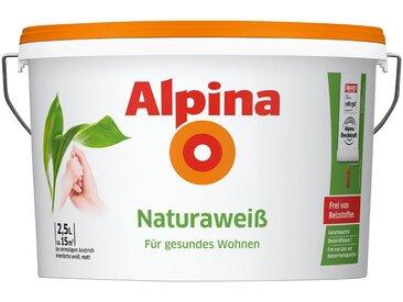 Alpina ALPINA Wand- und Deckenfarbe »Naturaweiß«, matt, weiß, 2.5 l, weiß
