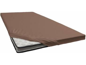 Schlafgut Spannbettlaken »Jersey-Elasthan«, für Topper, braun, Jersey-Elasthan, kakaobraun