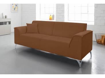 INOSIGN 2,5-Sitzer Sofa, braun, cognac