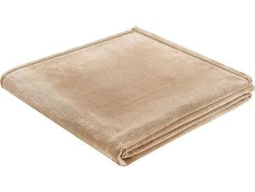 BIEDERLACK Wohndecke »King Fleece«, leichte Qualität, natur, Kunstfaser, beige