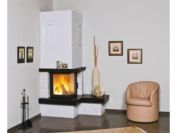HARK Kaminbausatz »Nebraska Bank Rechts«, 8 kW, echter Mamor naturweiß, Sims Granit royal-black, weiß, weiß