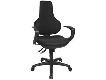 TOPSTAR Bürostuhl ohne Armlehnen »Ergo Point SY«, schwarz, schwarz