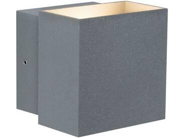 Paulmann LED Außen-Wandleuchte »Cybo eckig 100x100 mm 2x3W grau«, 2-flammig, grau, 2 -flg. /, grau