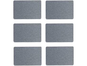 Zeller Present Platzset (Set 6-tlg), grau, Filz, grau