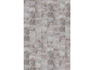 Infloor INFLOOR Teppichfliese »Velour Steinoptik Marmor grau«, selbsthaftend 25 x 100 cm, grau, grau/hellgrau