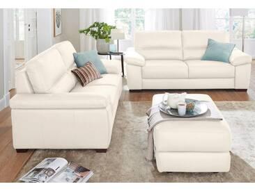 CALIA ITALIA Ledersofa Garnitur »Gaia« bestehend aus 2-Sitzer und 3-Sitzer, weiß, bianco latte
