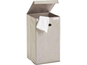 Zeller Present Zeller Wäschesammler »Stripes«, Vlies, beige, natur, Maße(B/T/H):(32/32/57), natur