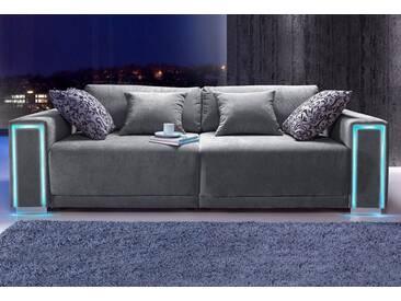 COLLECTION AB Collection AB Big-Sofa, Größe L - XXL, inklusive LED-RGB Beleuchtung, grau, anthrazit