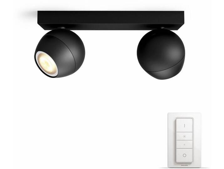 Philips Hue LED Spot Buckram schwarz 2flg. inkl...