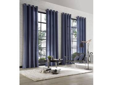 Bruno Banani Vorhang »Adrano«, Ösen (2 Stück), blau, Ösen, blickdicht, blau