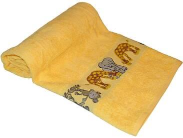 Dyckhoff Badetuch »Affe«, mit Tierbordüre, gelb, Walkfrottee, gelb