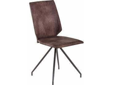 Stühle (2 Stück), braun, Vintage dunkel