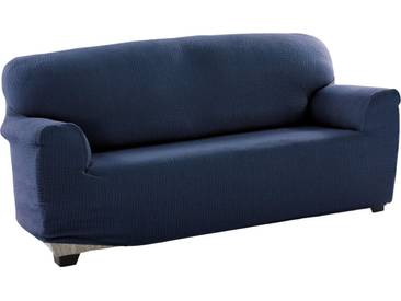sofaskins Sofahusse »Dario«, mit leichtem Struktur-Effekt, blau, Mischgewebe, dunkelblau
