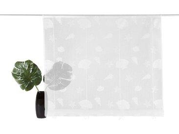 my home Raffrollo »Muschel«, mit Stangendurchzug, Bändchenrollo, weiß, Stangendurchzug, transparent, weiß