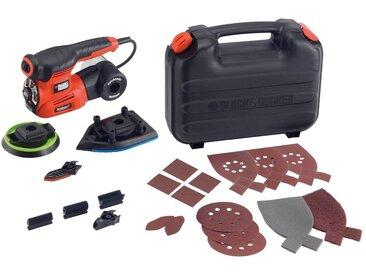 Black + Decker BLACK + DECKER Set: Multischleifer »220W Autoselect 4-in-1«, orange, orange