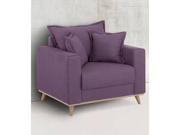 Home affaire Sessel »Edina«, im skandinavischem Stil, lila, aubergine