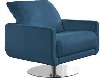 W.SCHILLIG Armlehnen-Sessel »mademoiselle« mit Kopfstützenverstellung und Drehteller, blau, blue