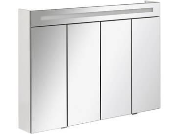 FACKELMANN Spiegelschrank »Twindy«, Breite 110 cm, 4 Türen, weiß, silberfarben/weiß