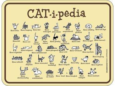 Rahmenlos Blechschild für den Katzenfreund, bunt, mehrfarbig