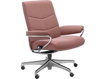 Stressless® Niedriglehner Relax- Bürosessel Home Office »Dublin«, rot, dusty rose PALOMA