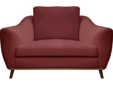 DELAVITA Delavita Sessel »Sarah« in skandinavischem Design mit Holzbeinen, rot, rot