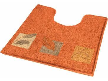 MEUSCH Badematte »Idyll« , Höhe 20 mm, rutschhemmend beschichtet, fußbodenheizungsgeeignet, orange, 20 mm, brandy