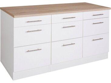 OPTIFIT Unterschrank »Tula«, Breite 150 cm, weiß, weiß