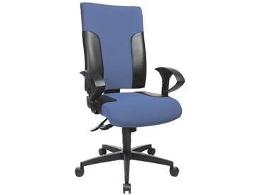 TOPSTAR Bürostuhl ohne Armlehnen »Two 20«, blau-schwarz