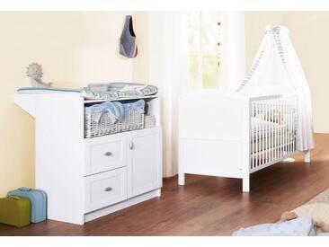 Pinolino® Pinolino Babyzimmer Set (2-tlg) Sparset, »Laura«, weiß, weiß